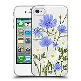 Head Case Designs Chicorée Rosen Und Wildblumen Soft Gel Hülle für iPhone 4 / iPhone 4S