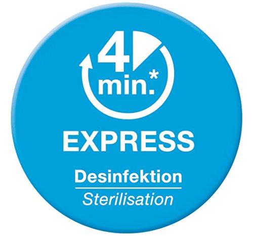 NUK Micro Express Plus Mikrowellen Sterilisator, für bis zu 4 Babyflaschen und Zubehör, schnell, effektiv und gründlich - 4