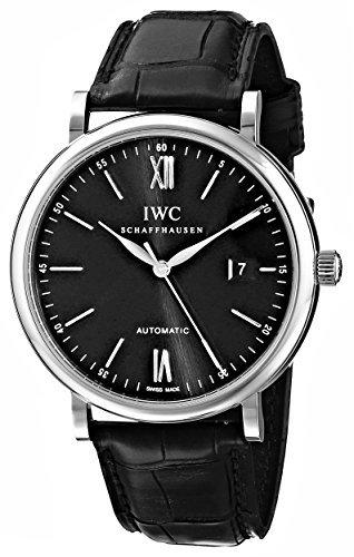 IW356502Portofino automatico quadrante nero orologio da uomo Iwc Iwc