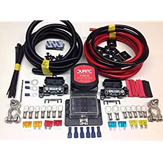 7mtr Pro Split Charge Kit 12v 140a Durite VSR + Battery Terminals + Fuse Box with 110a Cable SCKD317P