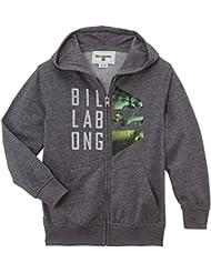 Billabong Kapuzenjacke Conned ZH - Sudadera con capucha para niño, color gris, talla de: 8
