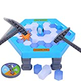 PlayMaty Penguin Trap Game Ice Breaking Save The Penguin Family Board Game Pounding Ice Cubes Desktop Game