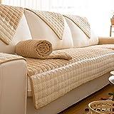 J&DSSU Sofa Bezug Baumwolle Sofabezug 1-Teilige Rutschfeste Schmutzabweisend Staubdicht Couchbezug Für 1 2 3 4 Sofa-Leicht gebräunt 68x68cm(27x27inch)