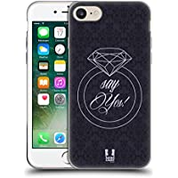 Head Case Designs Say Yes Diamanten Soft Gel Hülle für Apple iPhone 7 / iPhone 8