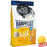 HAPPY CAT Adult Light HCLA +BALL Gratis Ausgewachsene Katzen Satter Genuss mit weniger Fett (1,4 kg)