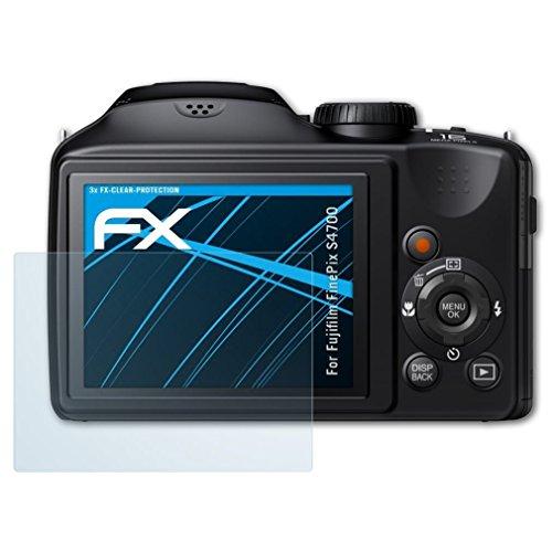 atFoliX Schutzfolie kompatibel mit Fujifilm FinePix S4700 Folie, ultraklare FX Displayschutzfolie (3X)