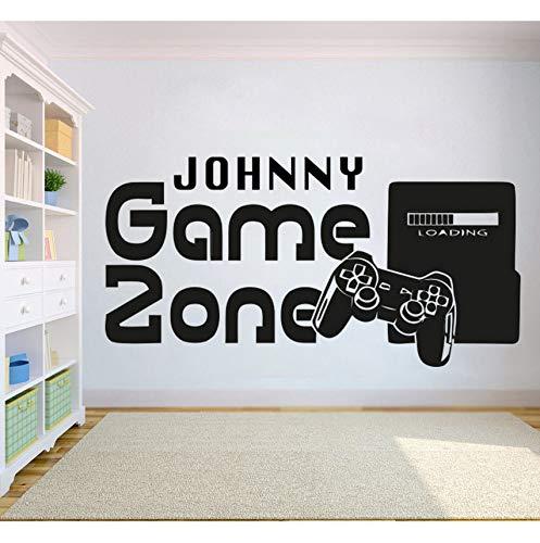 Cczxfcc Gamer Wandaufkleber Customized Name Spiel Zone Wandtattoo Video Game Controller Tapete Kinder Schlafzimmer Vinyl Wandkunst Aufkleber 83 X 42 Cm