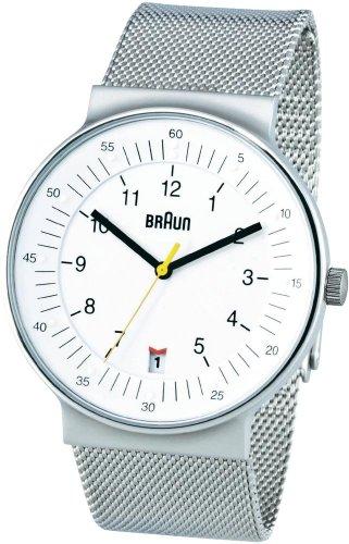 Braun BN0082WHSLMHG 66519 - Orologio da polso unisex, cinturino in acciaio inox colore bianco