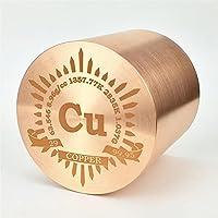 1kg Bellas inflexión cobre cilíndrico de Metal 53mm de × 99,95% grabado tabla periódica