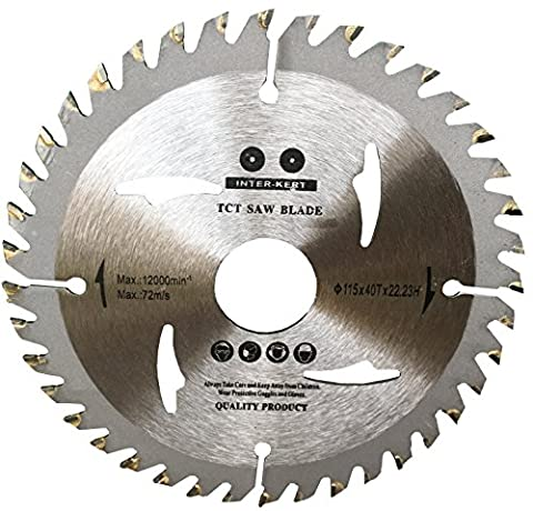 Saw Blade for ANGLE GRINDER 115mm for Wood Cutting discs Circular 115x22x40T 40TCT
