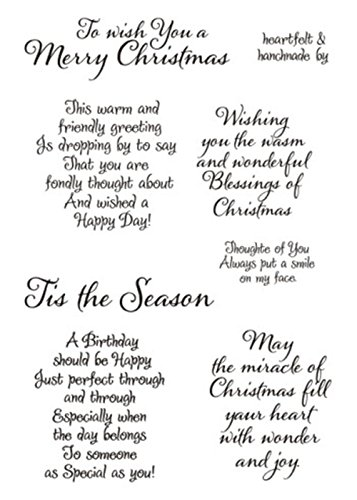 Tis The Season Merry Christmas Sayings Sentiments Phrase Happy Birthday Greetings Rubber Clear Stamp/Seal Scrapbook/Photo Decorative Card Making Clear Stamp