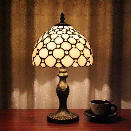 Tiffany 8-Zoll-Tischlampe Schlafzimmer Lampe Nachttischlampe kreativen St¨¹ck europ?ische klassische Skalen - Klassische Tiffany-tischlampe