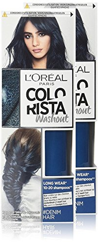 L' oréal Paris Colorista washout colorazione temporanea lunga durata capelli Denim - Set di 2