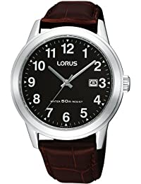 Lorus Gents Dress Strap Watch Black Dial 50m Water Resistance RH927BX9
