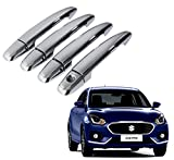 #7: Auto Pearl - Premium Qualtiy Chrome Door Handle Latch Cover For - Maruti Suzuki Swift Dzire 2017