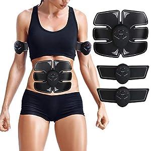ZHENROG EMS Elektrische Muskelstimulation Speziell für Fettverbrennung Bauch, Arme & Beine – muskeltrainer Stimulator Elektrostimulation,Elektroden Pads, Elektrostimulatoren für Herren Damen Geschenk
