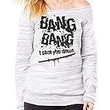 Felpa Fashion Kill Bill Bang Bang Song Soundtrack - Film Choose ur Color - Donna-M-Grigio Marmorizzato