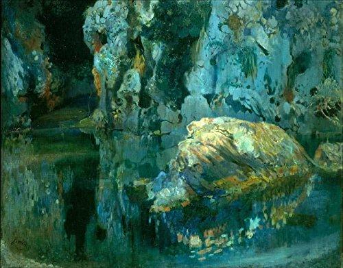 Das Museum Outlet-Joaquim mir-Der Rock in den Teich-Poster Print Online (A3Poster)