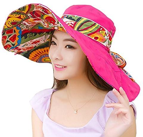 Pink Lady Rose - ihomey pliable léger en coton Flore Bonnet
