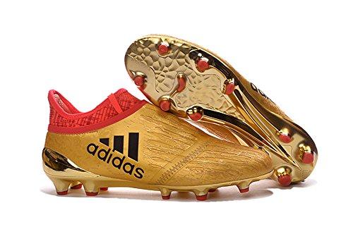 sabrianerion Scarpe da calcio X 16+ purechaos fgag Oro Calcio Stivali, Uomo, Gold, EUR42=UK7.5