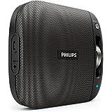 Philips BT2600B/00 - Altavoz portátil inalámbrico con Bluetooth (multipair, micrófono, batería recargable), negro