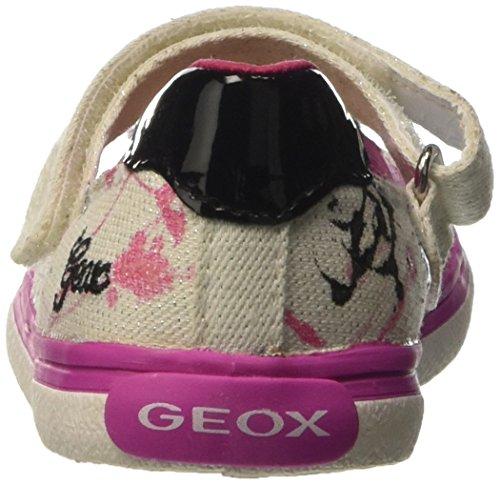 Geox Mädchen Jr Kiwi Girl D Knöchelriemchen Mehrfarbig (WHITE/FUCHSIAC0563)