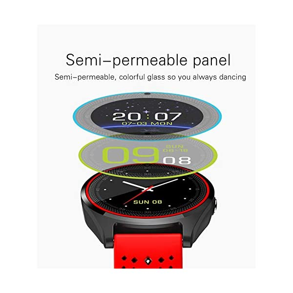 Hanbaili Smartwatch Reloj Inteligente con Ranura de Tarjeta SIM/TF y Cámara, Fitness Tracker, Análisis de Sueño… 3
