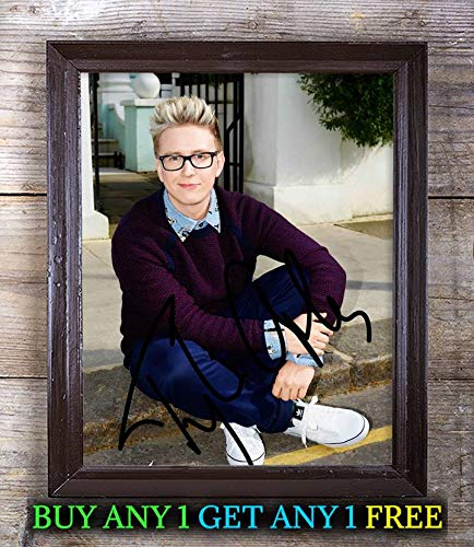 Tyler Oakley Youtuber Autographed Signed 8x10 Photo Reprint #50 Special Unique Gifts Ideas for Him Her Best Friends Birthday Christmas Xmas Valentines Anniversary Fathers Mothers Day