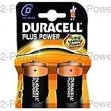 Duracell Plus Power Battery Alkaline 1.5V D Ref 81275443 [Pack 2]