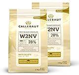 Saver Bundle Callebaut, White chocolate chips (2 x 2.5kg...