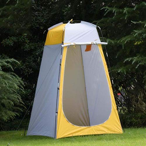 LuLSport Toilettenzelt Umkleidezelt, Tragbar Duschzelt Beistellzelt Campingzelt, Outdoor-Camping-WC-Dressing-Dusche, 120 * 120 * 185cm,Yellow