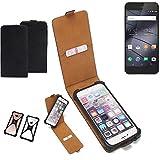 K-S-Trade Flipstyle Case für Gigaset ME Pure Schutzhülle Handy Schutz Hülle Tasche Handytasche Handyhülle + integrierter Bumper Kameraschutz, schwarz (1x)