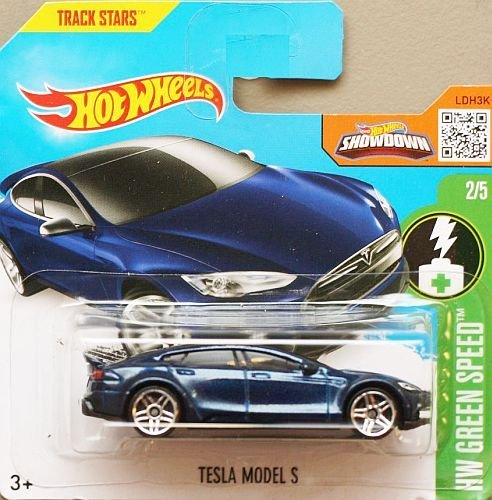 Preisvergleich Produktbild HOT WHEELS® Tesla Model S - 1:64 - nachtblau (HW Edition Green Speed)