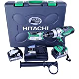 Hitachi DV18DSDL/JJ 18V Cordless Li-Ion Combi Drill with 2 x 5Ah Battery