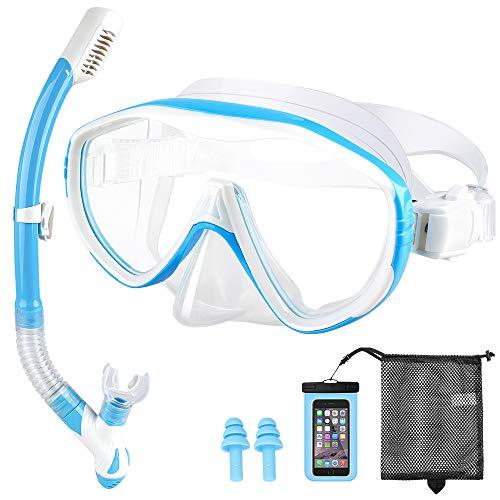 Nobebird Schnorchelset Erwachsene Premium Taucherbrille mit Schnorchel gehärtete Anti-Beschlag Gläser und Panorama-Weitblick