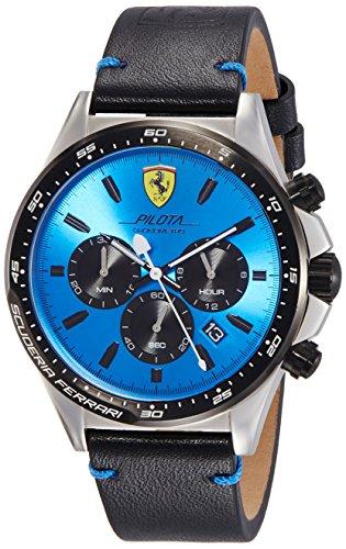 Scuderia Ferrari Herren Chronograph Quarz Uhr mit Leder Armband 830388