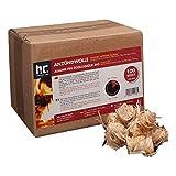 Höfer Chemie 100 STK. Anzündwolle für Holzöfen und Grills - formaldehydfrei - nässeunempfindlich
