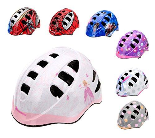 meteor Casco protector para bicicleta infantil, para niños, talla pequeña (M, PRINCESS)