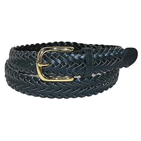 Aquarius Boys' Leather Braided Uniform Dress Belt (Pack of 2),