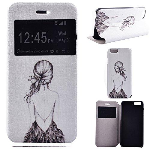 """iPhone 6 Plus Coque - MYTHOLLOGY Fenêtre Style avec Étui à rabat Support Housse Pour iPhone 6 Plus / iPhone 6S Plus 5.5"""" LBNH LBNH"""