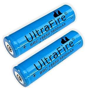 lot 2 x pile batterie rechargeable brc 18650 3800mah 3 7v. Black Bedroom Furniture Sets. Home Design Ideas