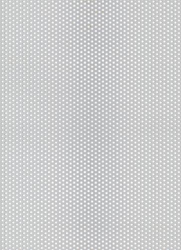 Gah-alberts 466961 - Lamiera forata - foro rotondo, alluminio anodizzato color argento, 200 x 1000 x 0,8 millimetri
