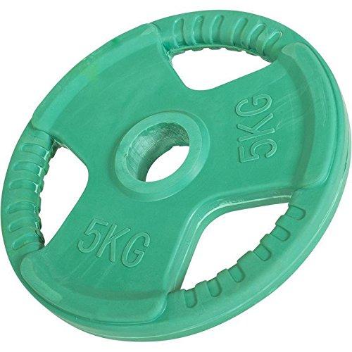 Hantelscheiben Gripper Gummi mit Eingriff 1,25kg-25kg, 50/51mm (5KG Grün)