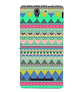 PrintVisa Designer Back Case Cover for Sony Xperia C3 Dual :: Sony Xperia C3 Dual D2502 (Tribal Pattern)