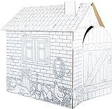 10015 Costruzione da gioco Casetta in cartoncino small foot, in cartone, può esere dipinta e colorata con tempera, pennarelli e pastelli, a partire da 3 anni.