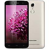 HOMTOM HT17 - 4G Smartphone Android 6.0 Libre Multitáctil (Pantalla 5.5'' IPS, MT6737 Quad Core 1.3GHz , 1GB RAM, 8GB ROM, GPS, WIFI) (Dorado)