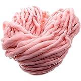 MMRMSuper-ChunkyGarnweicher WolleRovingSperrigeYarnSpinningHandKnitting -260G- Rosa