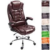 CLP XXL Chefsessel Thor, max. belastbar bis 150 kg, Bürostuhl mit Armlehnen, höhenverstellbar 49-59 cm, Drehstuhl mit dickem Polster, in Verschiedenen Farben Bordeauxrot