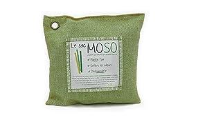 Le Sac MOSO (La Borsa MOSO) - Purificatore dell'aria, Deodorante, Deumidificatore, Naturale e Inodore - contiene il 100% Carbone di bambù - 200 Gr - Verde