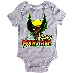 Body bebé Wolverine Baby Lobezno bebé - Gris, 6-12 meses